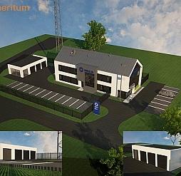 Budowa Komendy Policji w Chęcinach